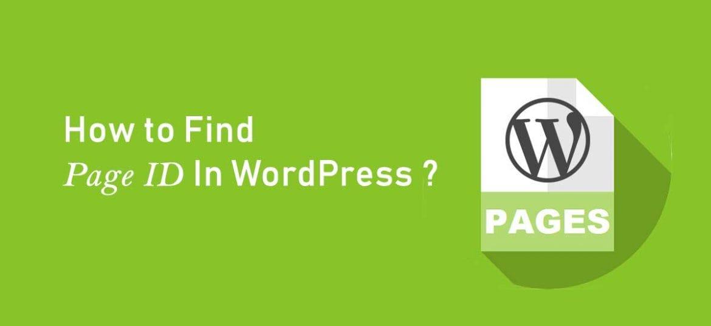 page id wordpress